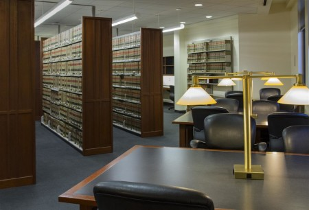 GW Law Library reading room