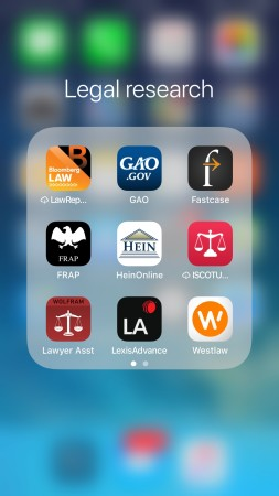 legal app screenshot