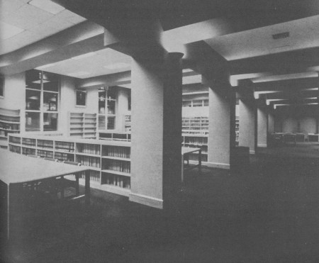 The second floor Stockton Reading Room (1986-1987).