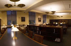 The second floor Stockton Reading Room houses the local jurisdiction collection.